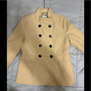 Old Navy women's camel felt pea coat, size M, NWOT